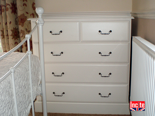 Custom made Painted Chest of Drawers