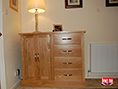 Oak Sideboard with Door and 4 Drawers