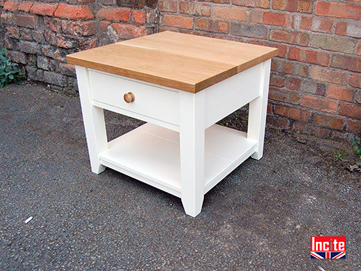 Painted and Oak Occasional Side Table