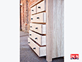 Oak Chest of Drawers Side View