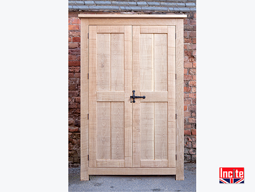Rustic Oak Wardrobe Natural Waxed
