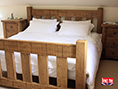 Solid Oak Slat Bed Natural Waxed
