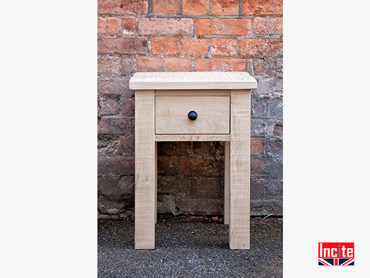 Rustic Natural Oak Bedside Table