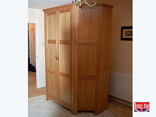 Handmade to Measure Oak Wardrobe