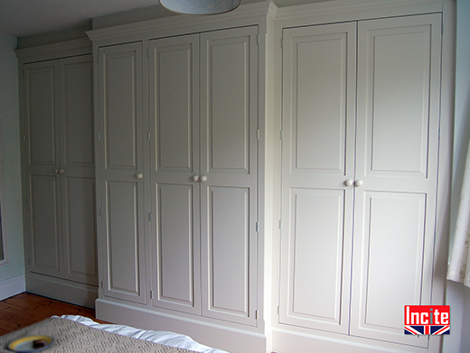 Painted Fitted Breakfront Wardrobes