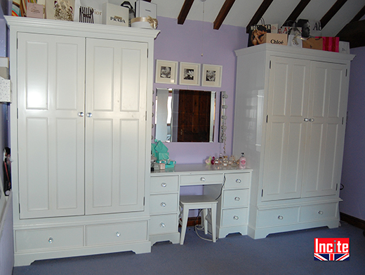 Bespoke Painted Combination Wardrobe