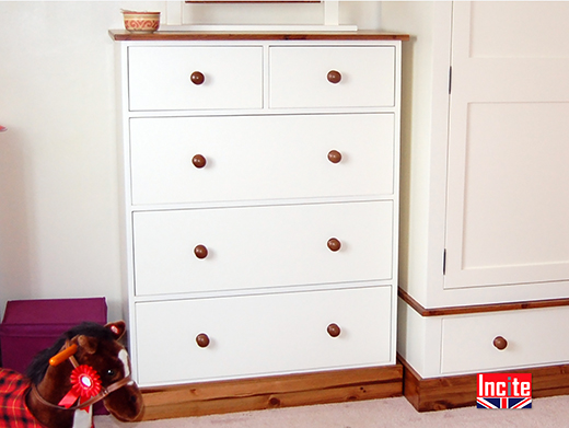 British Made Solid Pine Painted Chest of Drawers