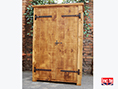 Rustic Chunky Solid Pine Double Wardrobe