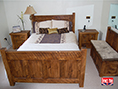 Rustic Plank Pine Panel Bed by Incite