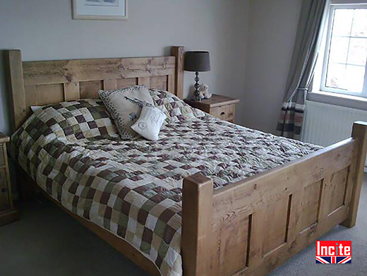 Solid Wooden Custom Made Panel Bed