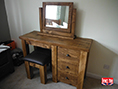 Bespoke Pine Single Pedestal Dressing Table