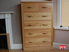 Bespoke Handmade Oak Chest of Drawers Custom Made By Incite Interiors