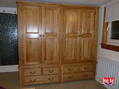 British Handmade Solid Oak Wardrobe