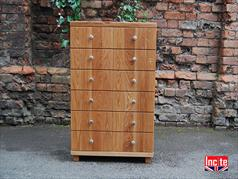 British Made Oak Chest Of Drawers