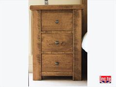 British Rustic Chunky Solid Oak Bedsides