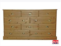 Handmade Farmhouse Solid Pine 2 Over 3 Chest Of Drawers By Incite Interiors Derbyshire Solid Wooden Bedroom Furniture