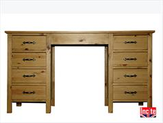 Shaker Double Pedestal Dressing Table