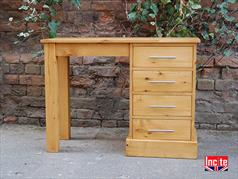 Farmhouse Solid Pine Single Pedestal Dressing Table