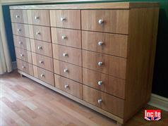 Oak Chest of Drawers handmade