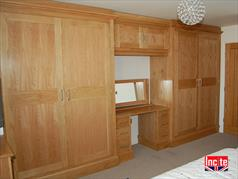 Custom Made Oak Combination Wardrobe