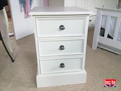 Painted Beaded Drawer bedside cabinet