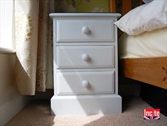 Painted Farmhouse 3 drawer bedside