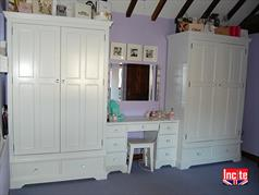 Handmade Painted Combination Wardrobe Made to Measure