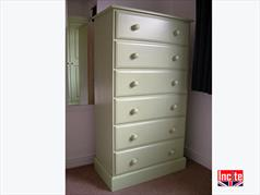 Handmade British Painted Tallboy Chest Of Drawers