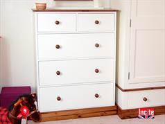 Handmade Cream Painted Chest Of Drawers