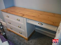 Painted and Oak Dressing Table