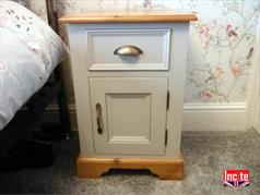 Handmade Pine and Painted Pot Cupboard Bedside