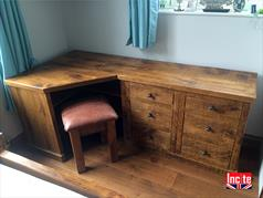 Plank Pine Corner Dressing Table