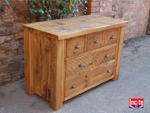 Solid Plank Pine  Chest of Drawers