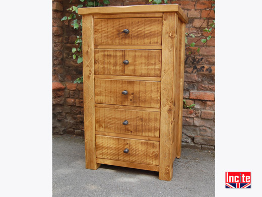 Rustic Pine Wellington Chest of Drawers