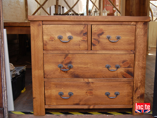 Plank Pine Chunky 2 over 2 Chest
