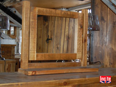Chunky Rustic Plank Dressing Table Mirror
