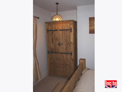 Wooden Linen Press Wardrobe