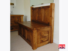 Handmade Chunky Plank Pine Monks Bench