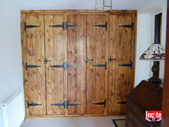 Plank Pine Fitted Wardrobe Custom Made