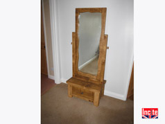 Chunky Cheval Mirror Drawer