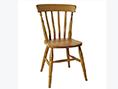Beech High Back Slat Dining Chair