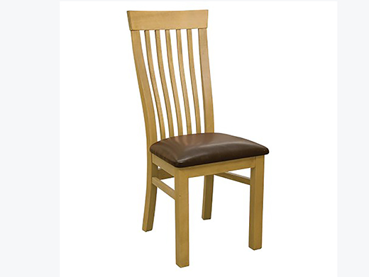 Beech High Slat Leon Dining Chair To Compliment Bespoke Handmade Furniture By Incite Interiors Derbyshire