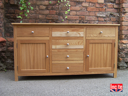 6 Drawer 2 Door Oak Sideboard