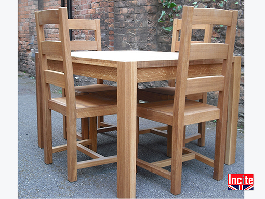 Square Oiled Solid Oak Table