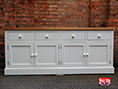 Painted With Oak Top Sideboard