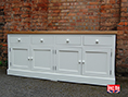 Solid Oak And Painted Sideboard