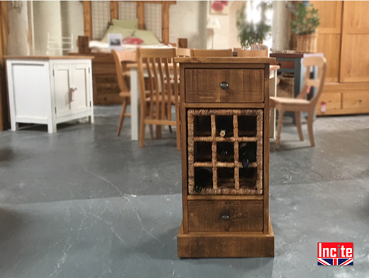 Rustic Plank Wine Storage Cabinet