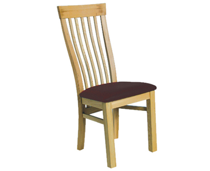 Oak Leon High Back Dining Chair