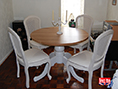 Painted Pine with Solid Oak Dining Table Top