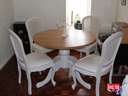 Painted Pine and Solid Oak Dining Furniture